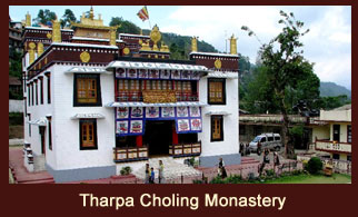 The Tharpa Choling Monastery is a Gelugpa monastery situated at the hilltop in Kalimpong, India.