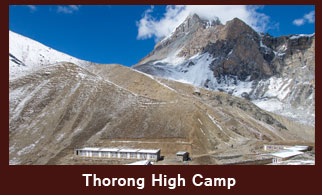 Thorong High Camp (4800m), is situated before attempting to go over Thorong La Pass (5416m), in the Annapurna region of Nepal.