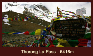 Thorong La, the world's highest mountain pass, located in the Annapurna region of Nepal.
