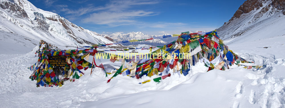 Thorong La the highest mountain pass in the world located in the Annapurna region of Nepal, needs a good physical aptitude.
