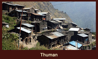 Thuman, the 'Tamang' dominated settlement with ancient monasteries and atristic wood-carved houses in the Langtang region of Nepal.