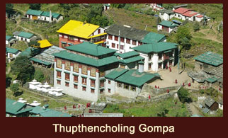 Thupthencholing Gompa, an interesting monastery in the Everest region of Nepal made by a renwoned Buddhist spiritual leader- Dalai Lama.