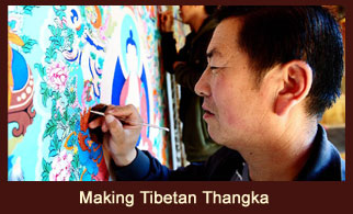 Learning how to make a Tibetan Thangka and Apron would be a great fun.