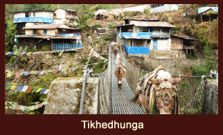 Tikhedhunga, a small village in the Annapurna region, Nepal.