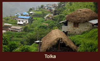 Tolka, a small village in the Annapurna region of Nepal.