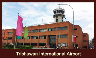 Tribhuwan International Airport in Kathmandu, Nepal.