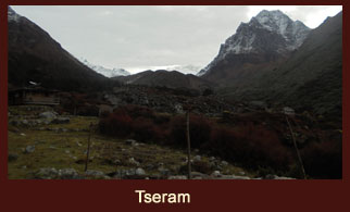 Tseram, a beautiful hamlet in the Kanchenjunga region of Nepal.