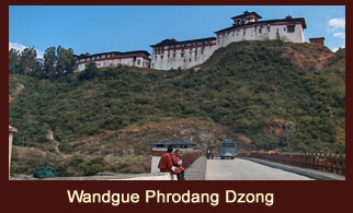 Wandgue Phrodang Dzong, a historical site in Bhutan.