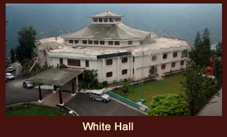 The White Hall located at Gangtok, Sikkim reflects a typical British architecture and was built in 1932.