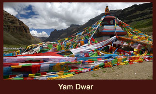 Yam Dwar, a legendary holy site in Tibet, that is believed to be the gateway to Yamaraj, regarded as the God of Death.