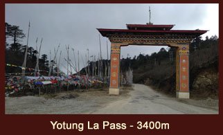 Yotung La pass (3400m) a high mountain pass in the east of Trongsa town in Bhutan.