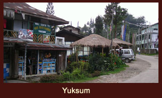 Yuksum is a historical town in Geyzing subdivision of West Sikkim district in the Northeast Indian state of Sikkim.