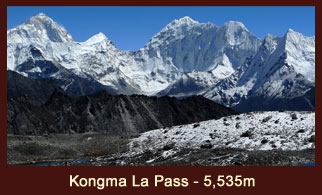 Kongma La Pass (5535m) is one of the most challenging mountain passes in the Everest region of Nepal.