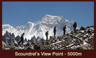 Scoundrel's View Point, a vantage point in the Everest region of Nepal offering marvelous views of Mt. Everest & Mt. Makalu.