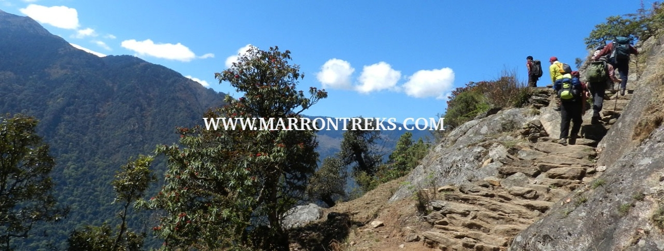 STONEY UPHILL TREK TRAIL IN LANGTANG